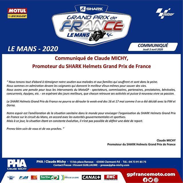 Coronavirus, report des 24h du Moto, Report du MotoGP Le Mans, Inquiétude pour le MotoGP de Misano…
